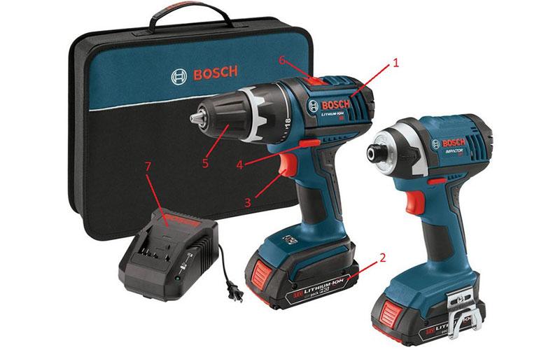 Cấu tạo máy khoan pin cầm tay Bosch