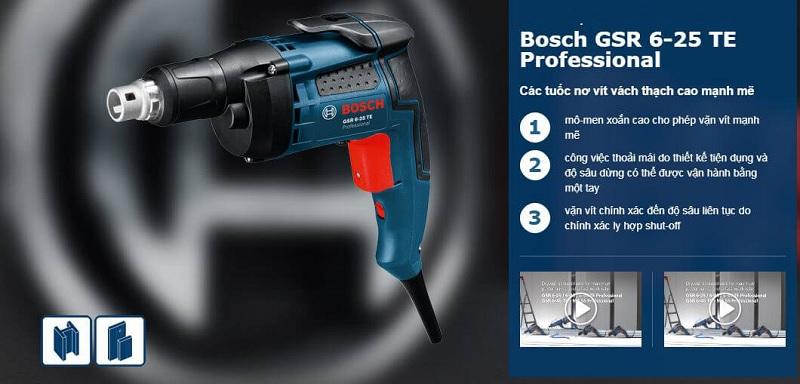 Máy bắt vít Bosch GTB 650 có thiết kế nhỏ gọn