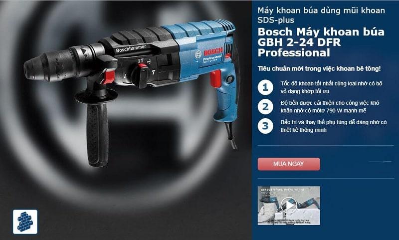 Đặc điểm nổi bật của Bosch GBH 2-24 DFR