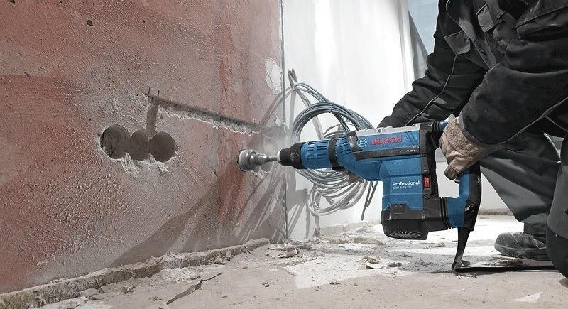 Ứng dụng của máy khoan bê tôngBosch GBH 8-45 D