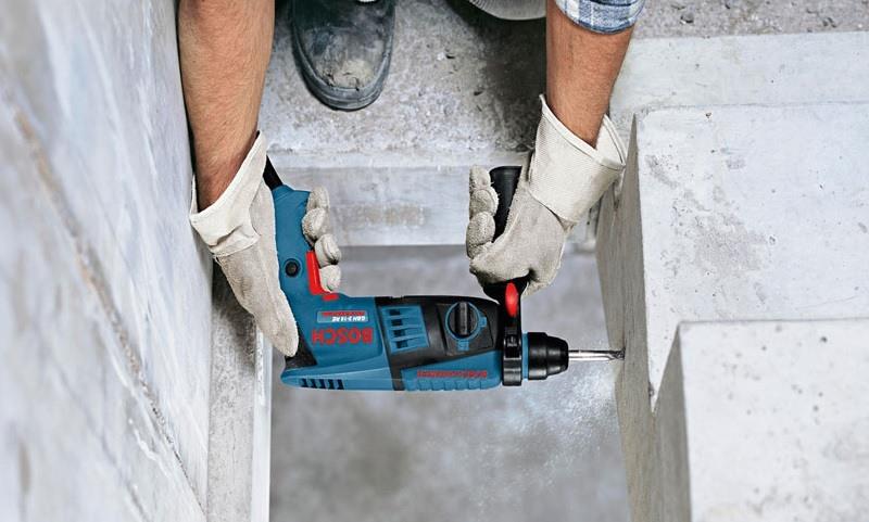 Ứng dụng của máy khoan búa Bosch GBH 2 18 RE