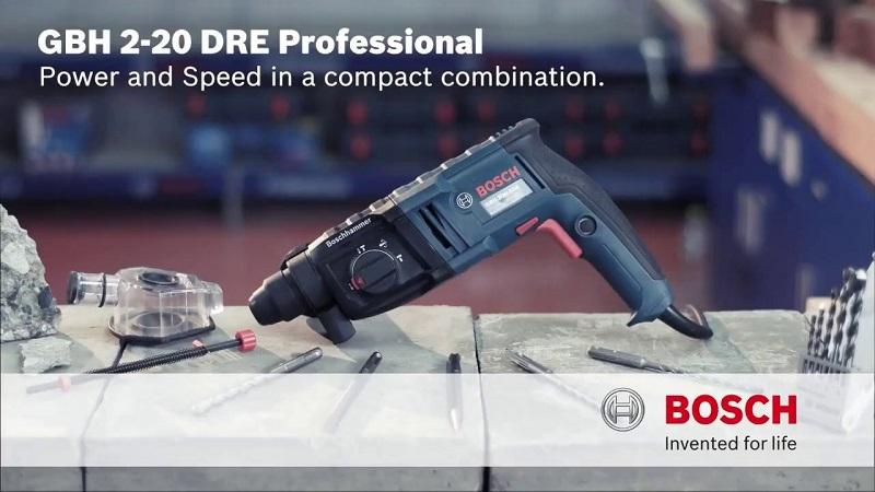 Bosch GBH 2-20 RE tích hợp nhiều tiện íchvà tính năng hiện đại
