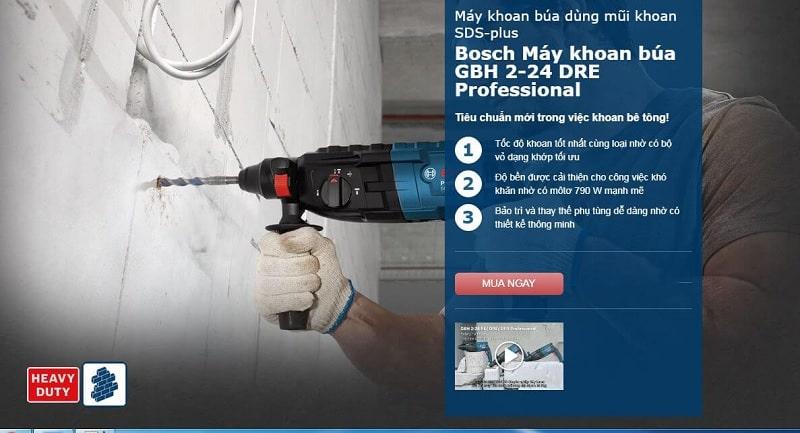 Bosch GBH 2-24 DRE chuyên nghiệp