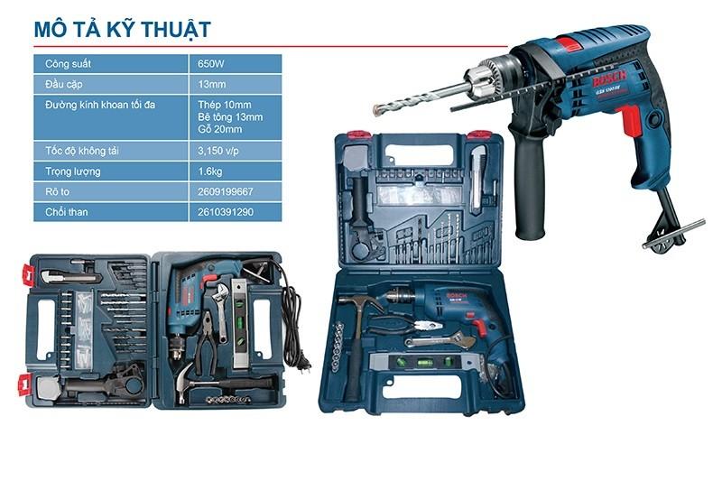 Bosch GSB 13 RE SET 100 là bộ sản phẩm đa năng cho gia đình