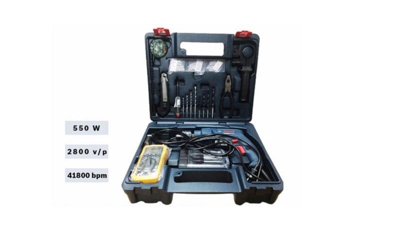 Các chi tiết trong bộ khoan Bosch GSB 550 Electrician