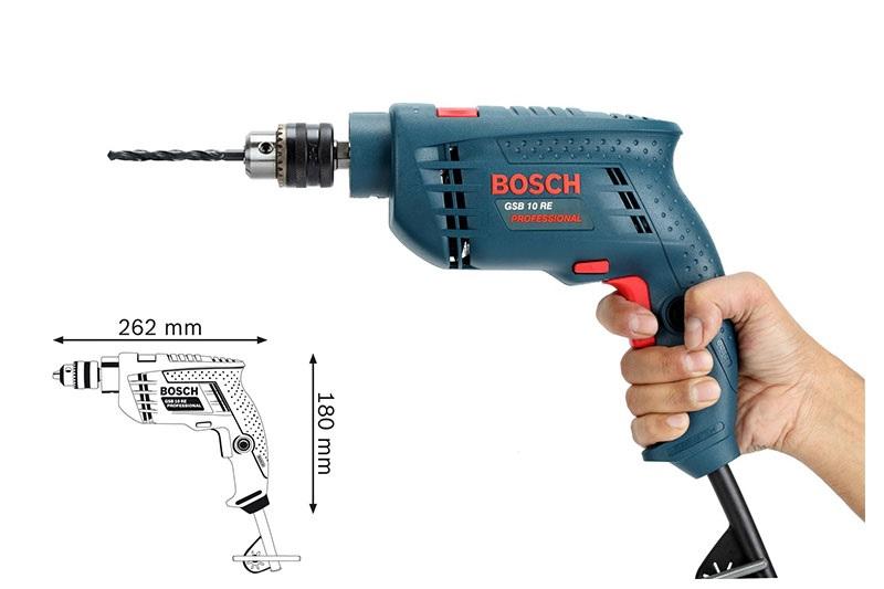Bosch GSB 10 RE có thiết kế nhỏ gọn
