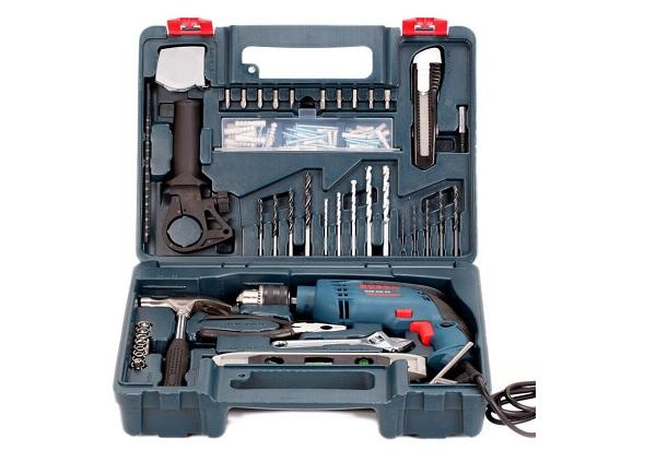 Bộ máy khoan đa năng Bosch GSB 550 Set 100 món