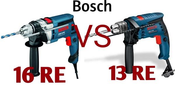 Điểm giống nhau về thiết kế, cấu tạo của Bosch GSB 16 RE và GSB 13 RE