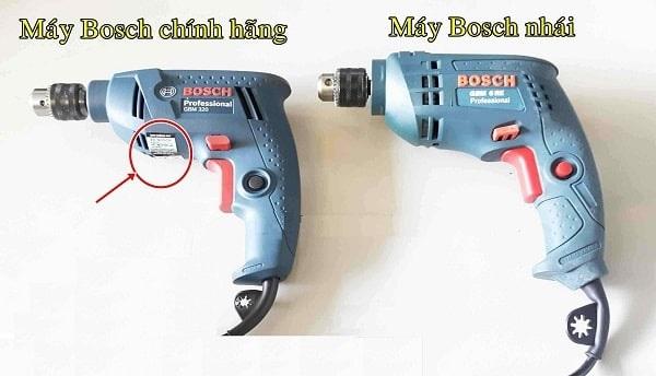 Phân biệt máy khoan Bosch thật giả dựa vào tem chống hàng giả