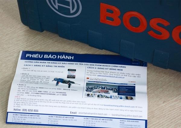 Cách phân biệt máy khoan Bosch chính hãng dựa vào phiếu bảo hành