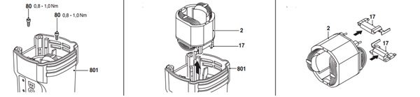 Tháo Stator của máy khoan Bosch