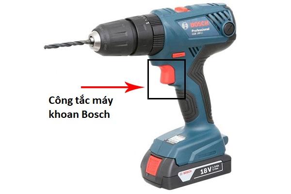 Công tắc máy khoan Bosch có tác dụng gì?