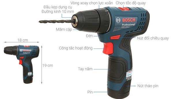 Máy khoan pin Bosch GSR 120-LI