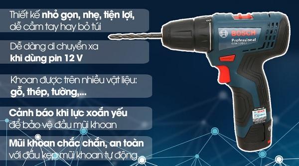 Máy khoan pin bắtvít Bosch GSR 120-LI GEN II