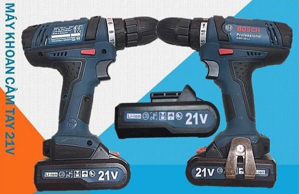 Máy khoan pin Bosch 24V, 21V, 26V, 48V khác gì so với máy chính hãng?