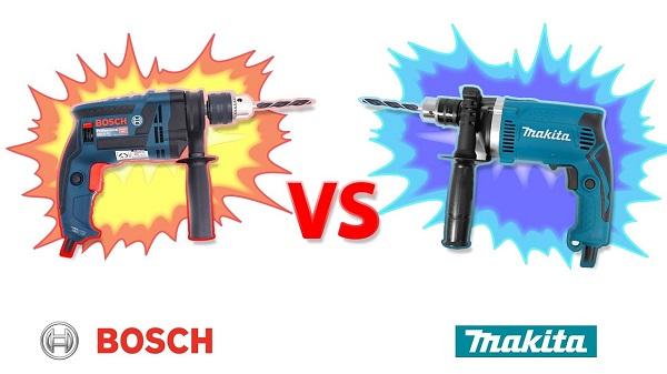 So sánh máy khoan Bosch và Makita loại nào hơn?