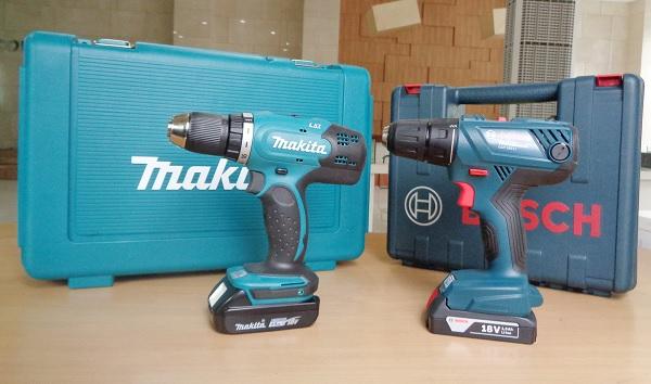 Nên mua máy khoan pin thương hiệu Bosch hay Makita?