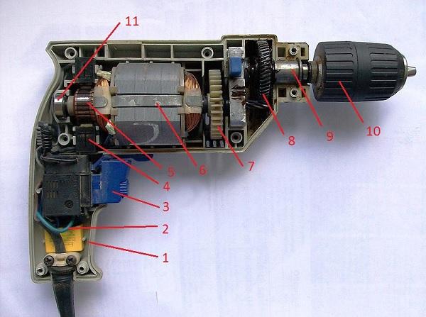 Cấu tạo của máy khoan Bosch