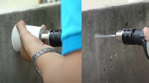 [Mẹo vặt] 4 cách khoan tường không bụi