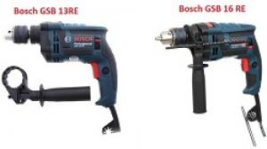 So sánh máy khoan Bosch GSB 16 RE và GSB 13 RE