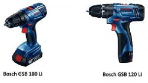 So sánh máy khoan Bosch GSB 120 LI và 180 LI